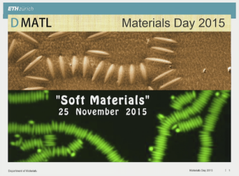 Materials Day 2015 – Soft Materials